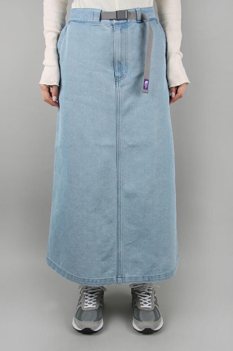 ノースフェイス パープルレーベル ウィメンズ Denim Field Skirt-INDIGO BLEACH-(NTW5002N) 【正規取扱店】