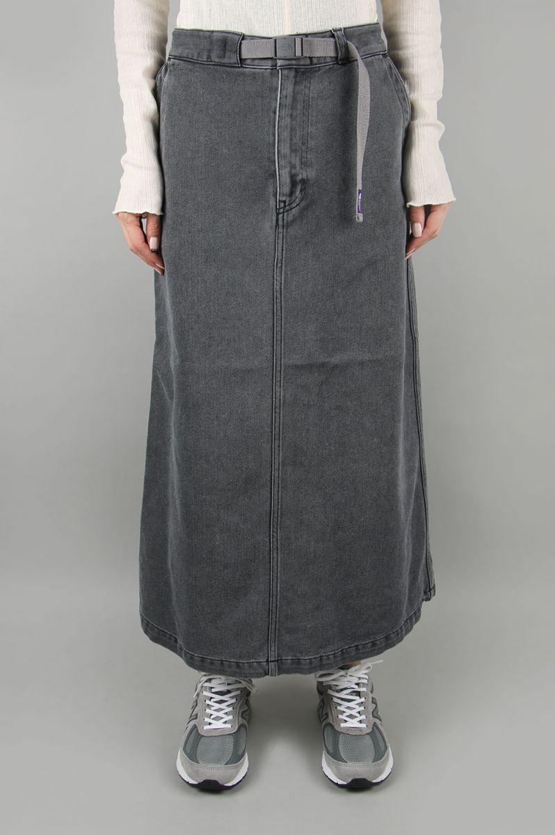 ノースフェイス パープルレーベル ウィメンズ Denim Field Skirt-BLACK BLEACH-(NTW5002N) 【正規取扱店】