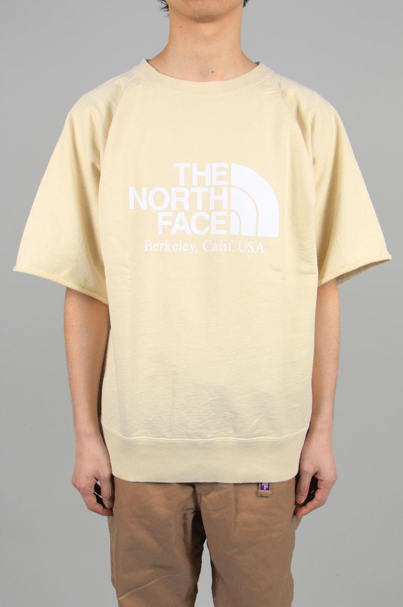 ノースフェイス パープルレーベル メンズ 10oz H/S Crew Neck Sweat - Cream (NT6003N) 【正規取扱店】