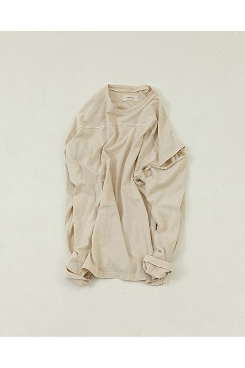 【受注会開催中】Sleeve Slit Long T-Shirts-ECRU(12010614 ) (R) Todayful(トゥデイフル)