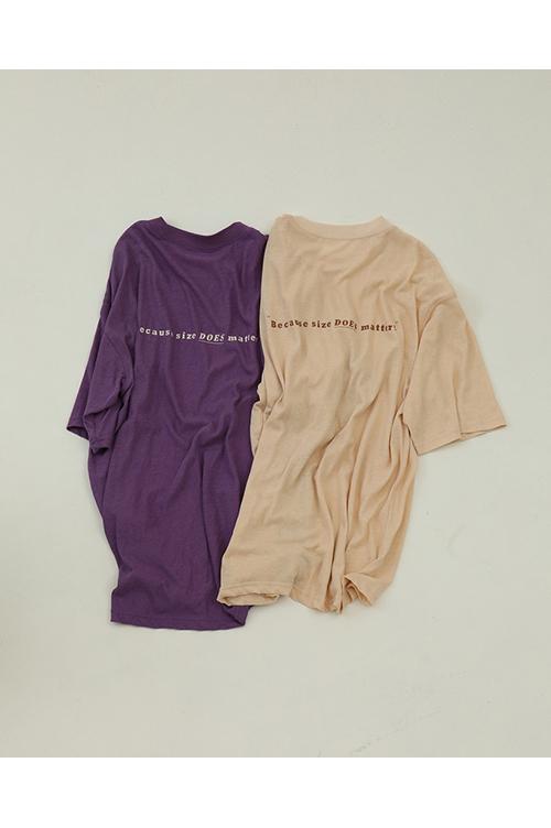 【予約会開催中】Back Print T-Shirts-PURPLE(12010613 ) (R) Todayful(トゥデイフル)