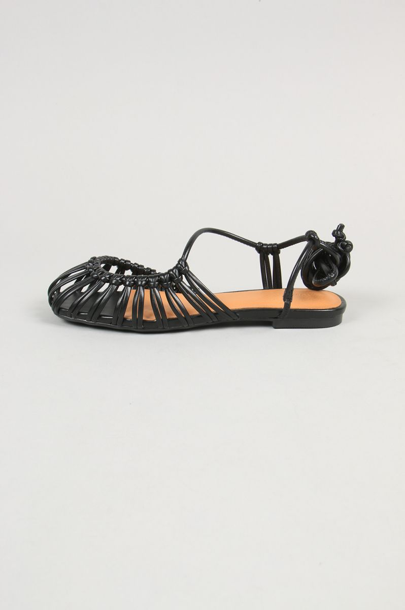 Asymmetry Rope Sandals-BLACK(12011005) Todayful(トゥデイフル)