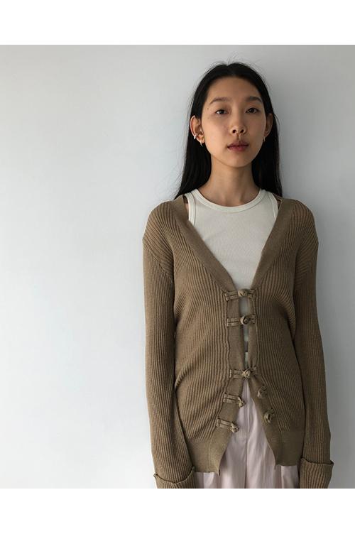 【予約会開催中】トゥデイフル レディース China Linen Cardigan ブラウン (R) 【正規取扱店】
