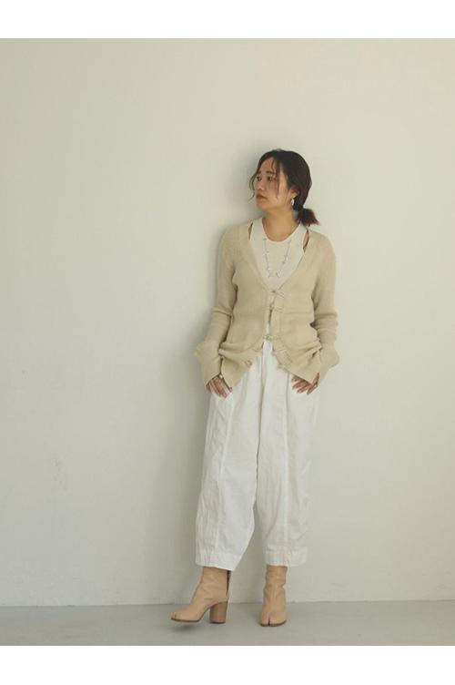 【受注会開催中】China Linen Cardigan-CREAM(12010513 ) (R) Todayful(トゥデイフル)
