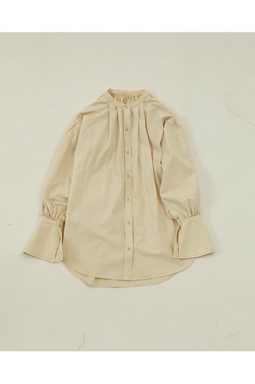 【受注会開催中】Standcollar Vintage Shirts-CREAM(12010407) (R) Todayful(トゥデイフル)