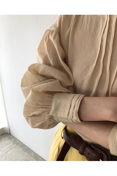 【受注会開催中】Pintuck Dry Blouse-CREAM(12010410 ) (R) Todayful(トゥデイフル)