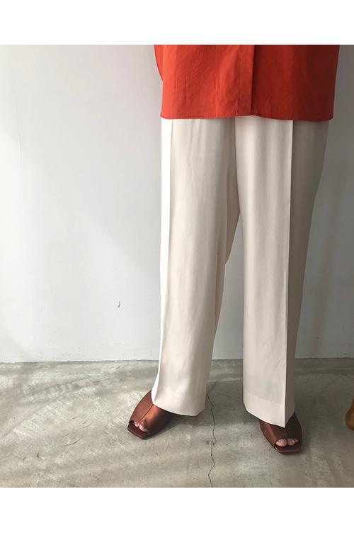 【受注会開催中】Georgette Rough Trousers-ECRU(12010708) (R) Todayful(トゥデイフル)