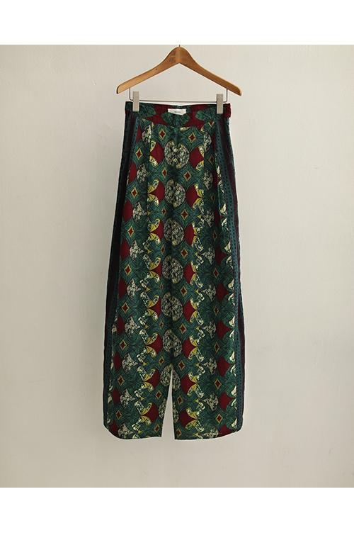 【予約会開催中】African Print Pants-GREEN(12010710) (R) Todayful(トゥデイフル)
