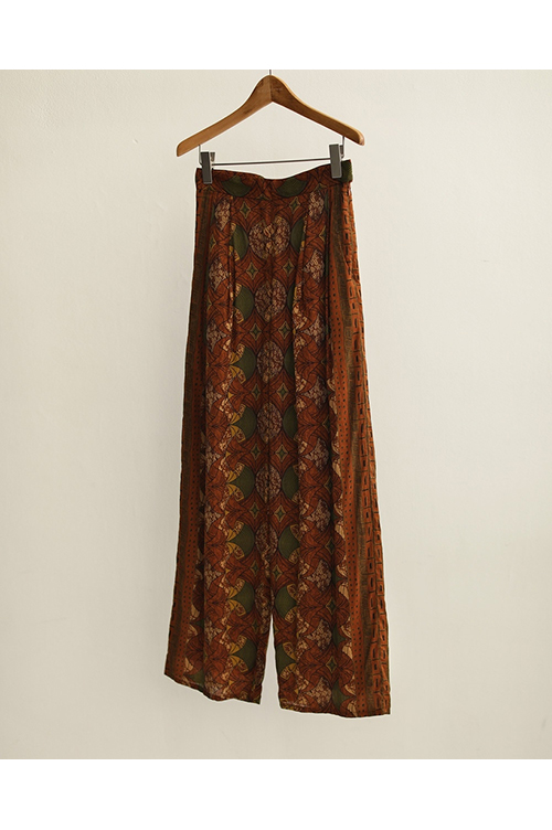 【予約会開催中】African Print Pants-BROWN(12010710) (R) Todayful(トゥデイフル)