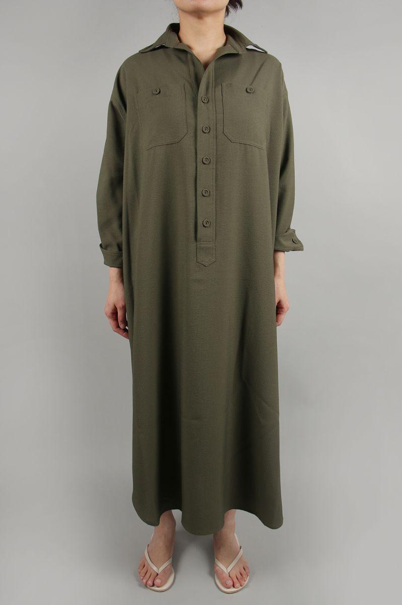 Dry touch soccer shirt dress-KHAKI-(13RFADRE-06C) Bluebird Boulevard(ブルーバード・ブルバード)