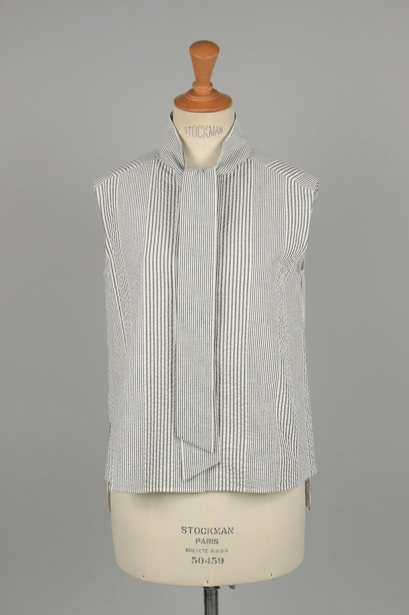 Random soccer bowtie blouse-BLACK-(13RFATOP-02C) Bluebird Boulevard(ブルーバード・ブルバード)