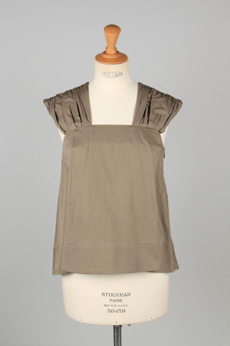 Sundry cotton top-KHAKI-(13RFATOP-10C) Bluebird Boulevard(ブルーバード・ブルバード)