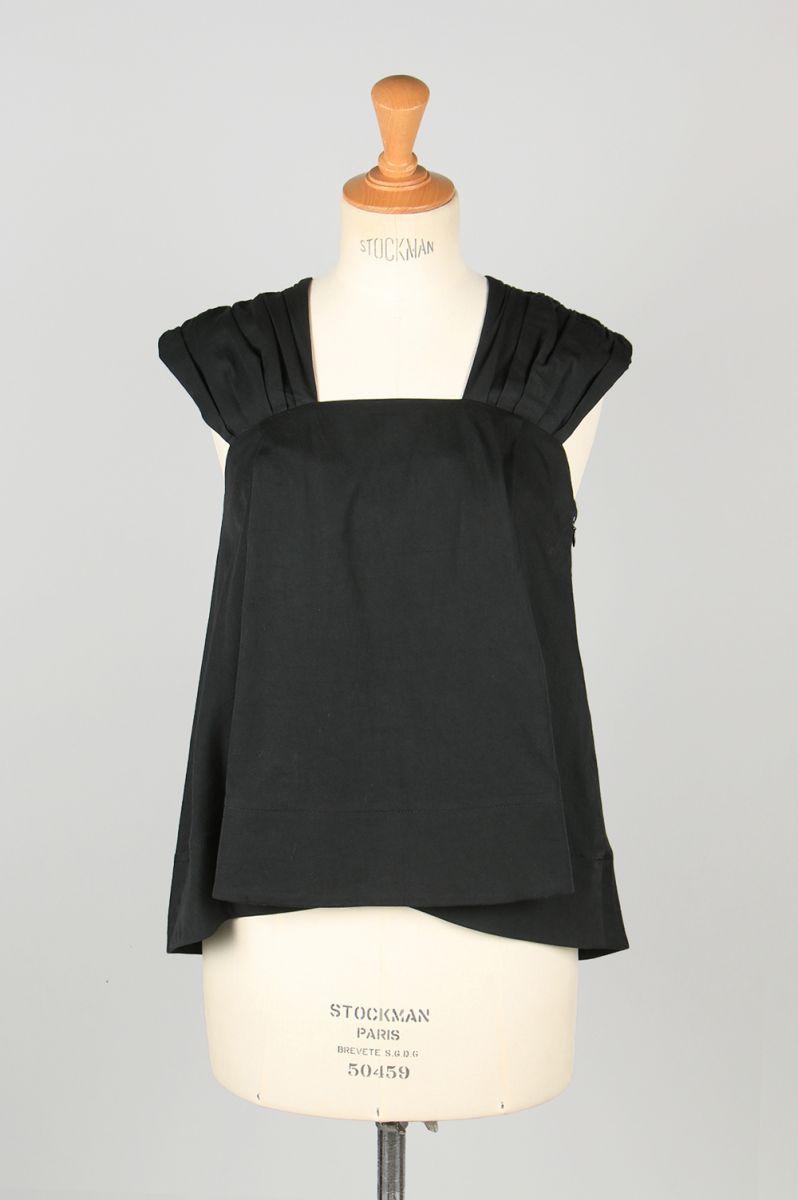 Sundry cotton top-BLACK-(13RFATOP-10C) Bluebird Boulevard(ブルーバード・ブルバード)