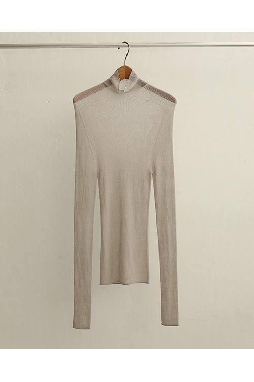 【予約会開催中】Wholegarment Sheer Knit-ECRU(12010510) (R) Todayful(トゥデイフル)
