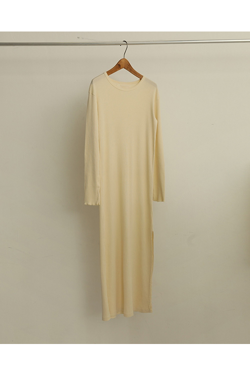 【予約会開催中】Cottonrib Layered Dress-ECRU( 12010317 ) (R) Todayful(トゥデイフル)