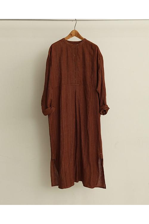 【予約会開催中】Silk Stitch Dress-TERRACOTTA( 12010305)(R) Todayful(トゥデイフル)