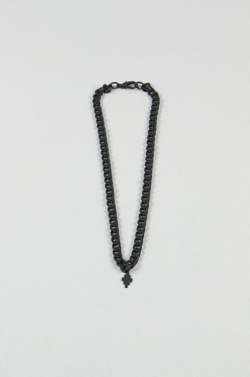 CROSS NECKLACE/BLACK(CMOB015E20MET0011000) Marcelo Burlon(マルセロブロン)