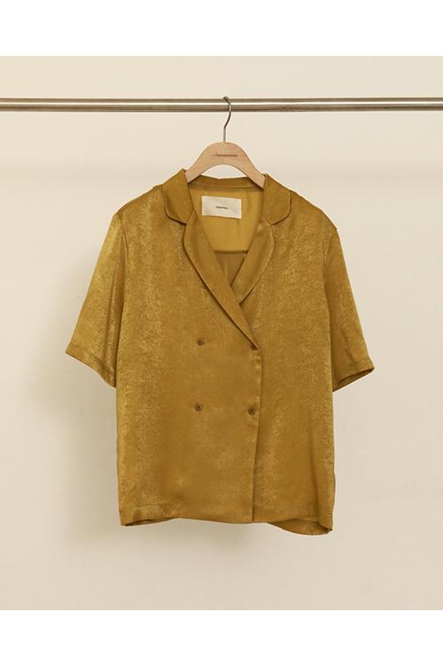 【予約会開催中】トゥデイフル レディース Crepe Satin Shirts オリーブ (R) 【正規取扱店】