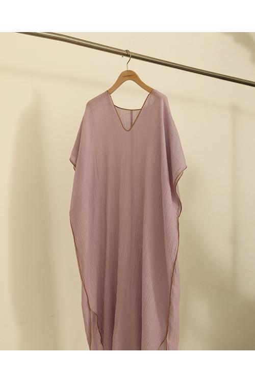 【予約会開催中】トゥデイフル レディース Piping Caftan Dress ラベンダー (R)【正規取扱店】