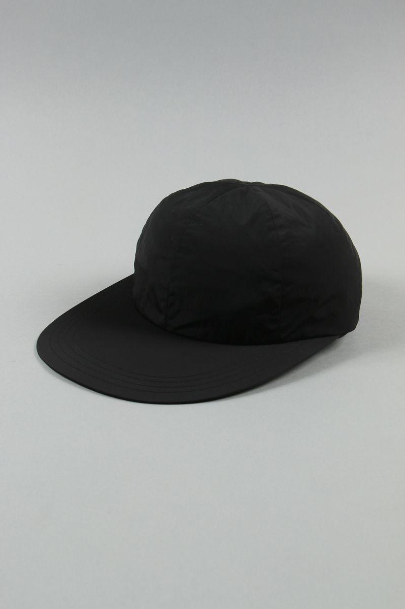 LIGHT NYLON BIG BRIM CAP - BLACK (NO.17627) COMESANDGOES(カムズアンドゴーズ)