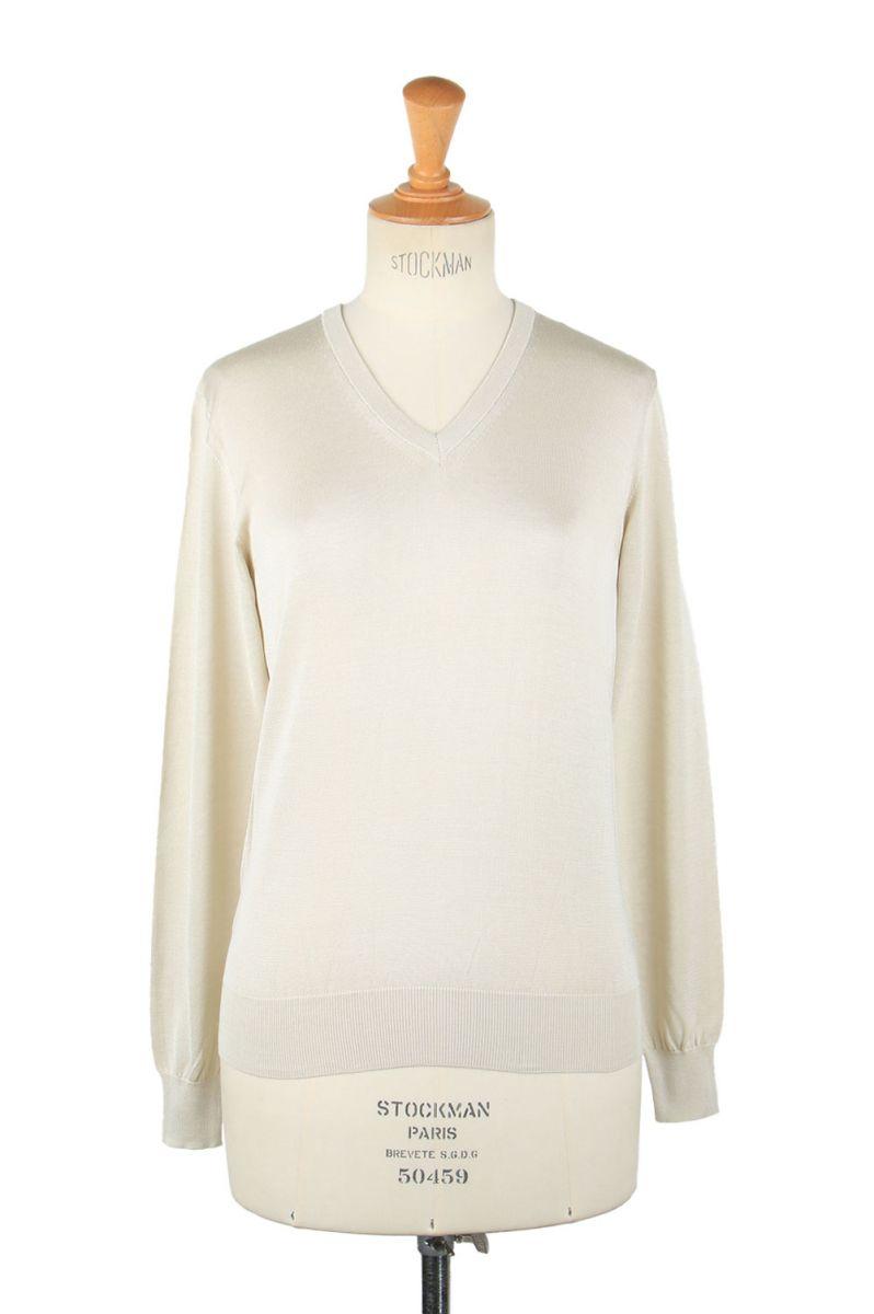 17時までのご注文で最短翌日発送 正規取扱店 Silk t-cloth V SLOANE 5%OFF SL4S-031B Neck-Oyster スローン アウトレット