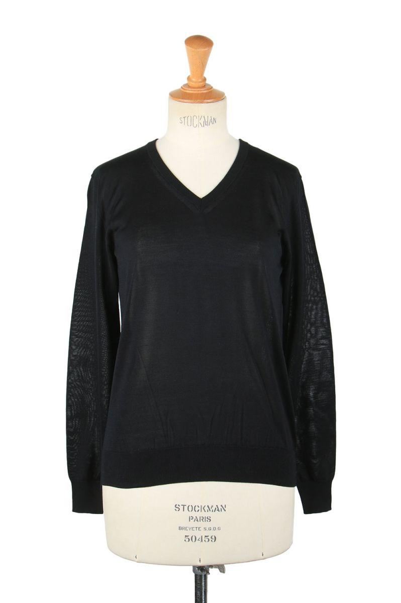 17時までのご注文で最短翌日発送 正規取扱店 Silk 中古 t-cloth V スローン SL4S-031B SLOANE 特別セール品 Neck-Black