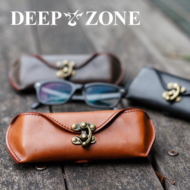 ギフト包装 選べるカラー 限定5個 Deep zone メガネケース めがね入れ おしゃれ ハードケース 眼鏡ケース 眼鏡 バーゲンセール 激安特価品 ポーチ プレゼント DEEP ZONE レディース 床革 メンズ