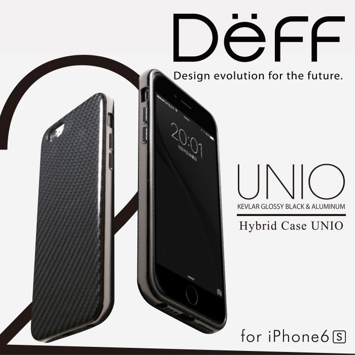 Deff ティーフ iPhone6 iPhone6s 用 ケブラー と アルミ を使った 耐衝撃 HYBRID ケース 「UNIO」バンパーケース  スマホ ケース アルミバンパー 【送料無料】