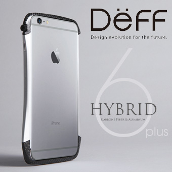 【Deff直営ストア】iPhone6 Plus,iPhone6s Plus用アルミバンパー「CLEAVE Hybrid Bumper for iPhone 6 Plus」