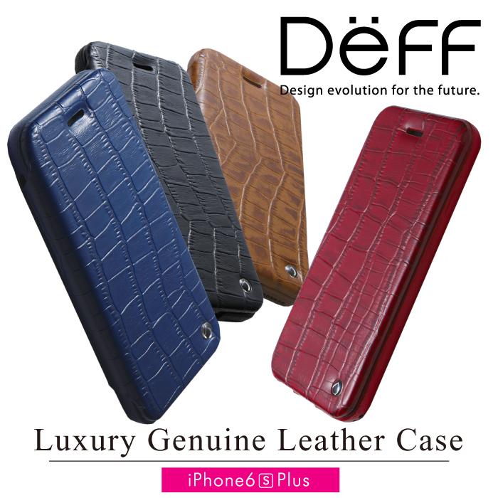 【Deff直営ストア】iPhone6s Plus,iPhone Plus 手帳型 レザーケース Luxury Genuine Leather Case for iPhone 6s Plusシープ(羊)スキンと牛革レザーを組み合わせたフリップタイプケース スマートフォンケース【送料無料】