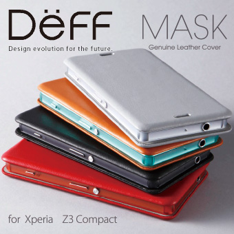 【Deff直営ストア】Genuine Leather Cover MASK for Xperia Z3 Compact
