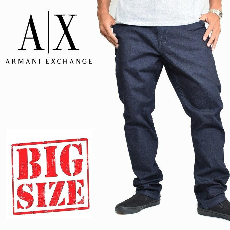 大きいサイズ メンズ アルマーニエクスチェンジ A/X ARMANI EXCHANGE デニムパンツ ジーンズ ジーパン ストレート 38 40インチ