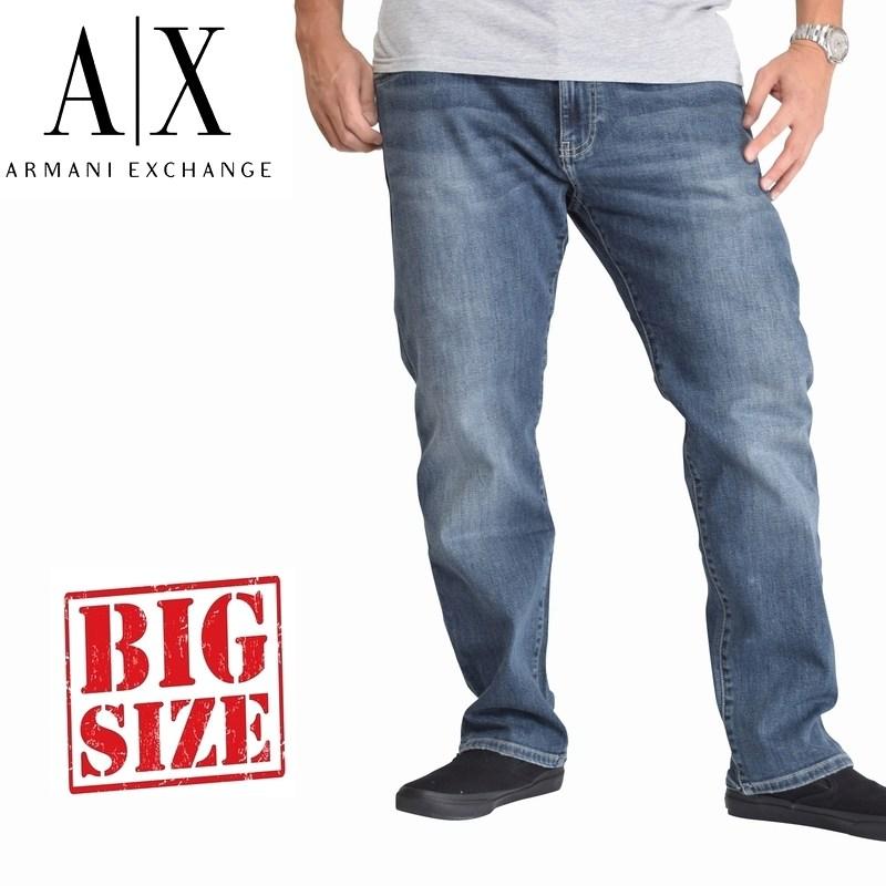 アルマーニエクスチェンジ A/X ARMANI EXCHANGE デニムパンツ ジーンズ ジーパン リラックスストレート RELAXED STRAIGHT 38 40インチ 大きいサイズ メンズ あす楽