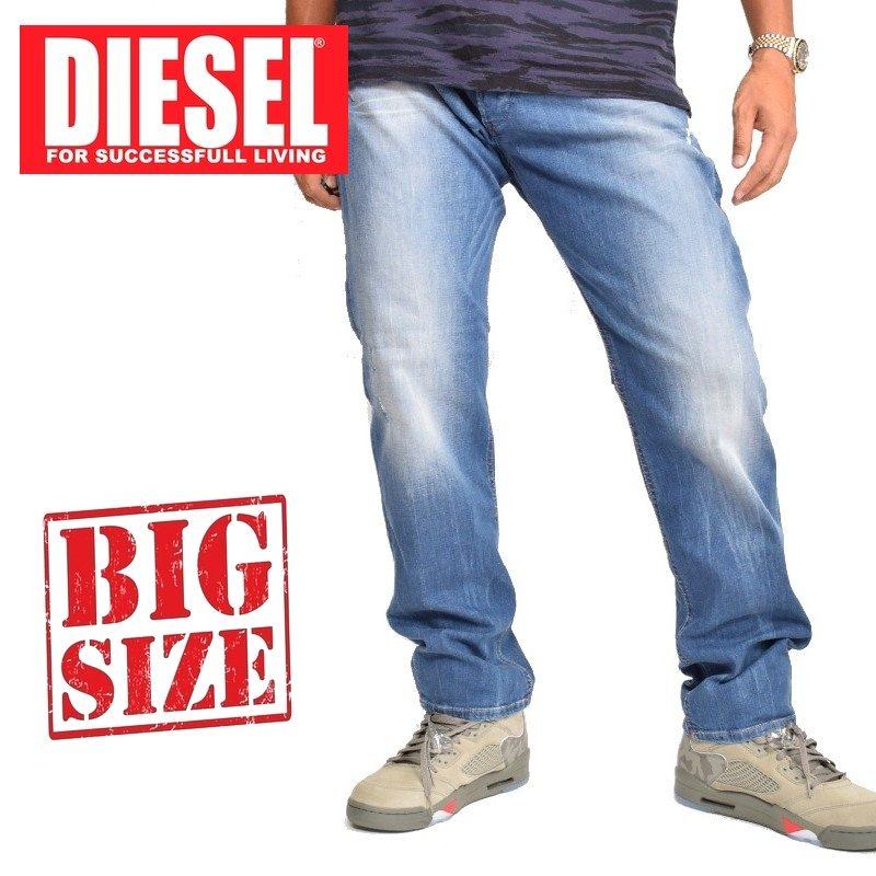 大きいサイズ メンズ ディーゼル Diesel デニムパンツ ジーンズ レギュラー スリム テーパード BELTHER 0669B STRETCH 38インチ