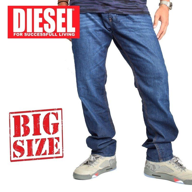 大きいサイズ メンズ ディーゼル Diesel デニムパンツ ジーンズ レギュラー スリム テーパード BELTHER-R R845B_STRETCH 38 40インチ