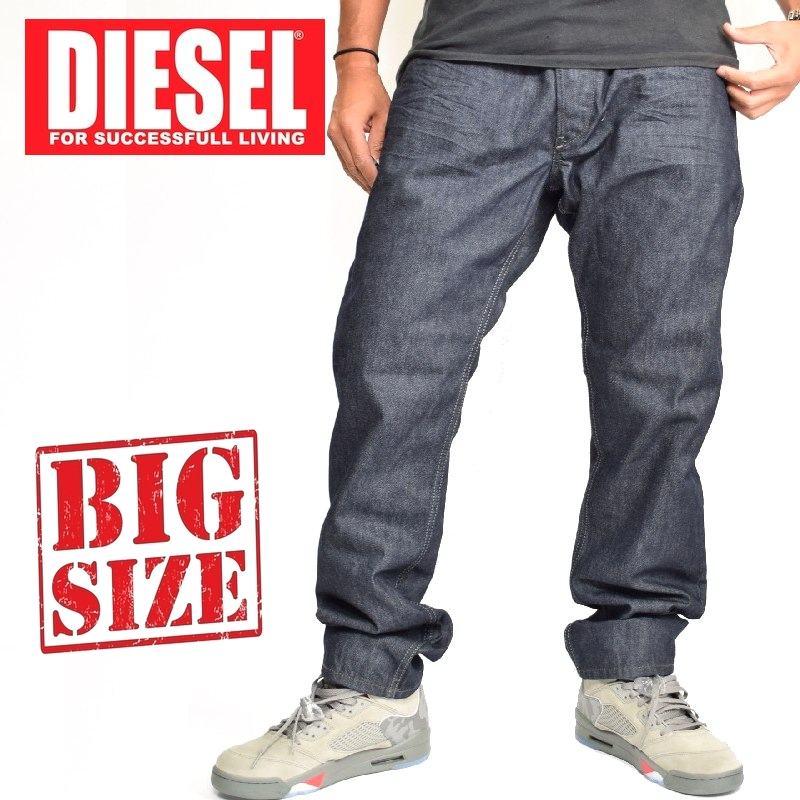 大きいサイズ メンズ ディーゼル Diesel デニムパンツ ジーンズ レギュラー スリム テーパード BELTHER WASH 0088Z 38 40インチ