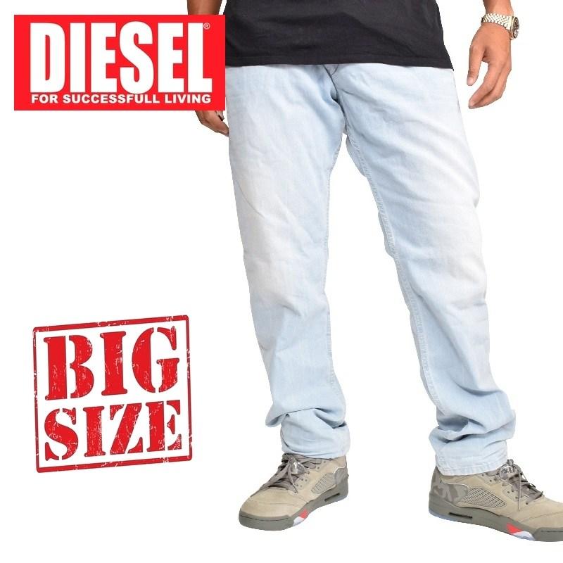 大きいサイズ メンズ ディーゼル Diesel デニムパンツ ジーンズ レギュラー スリム テーパード BELTHER WASH 0852I 38 40インチ