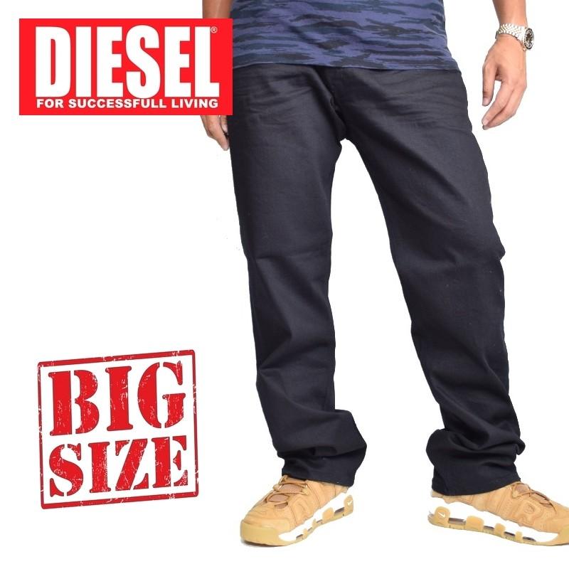大きいサイズ メンズ ディーゼル Diesel デニムパンツ ジーンズ レギュラー ストレート WAYKEE WASH 0RF84_STRETCH 38 40インチ