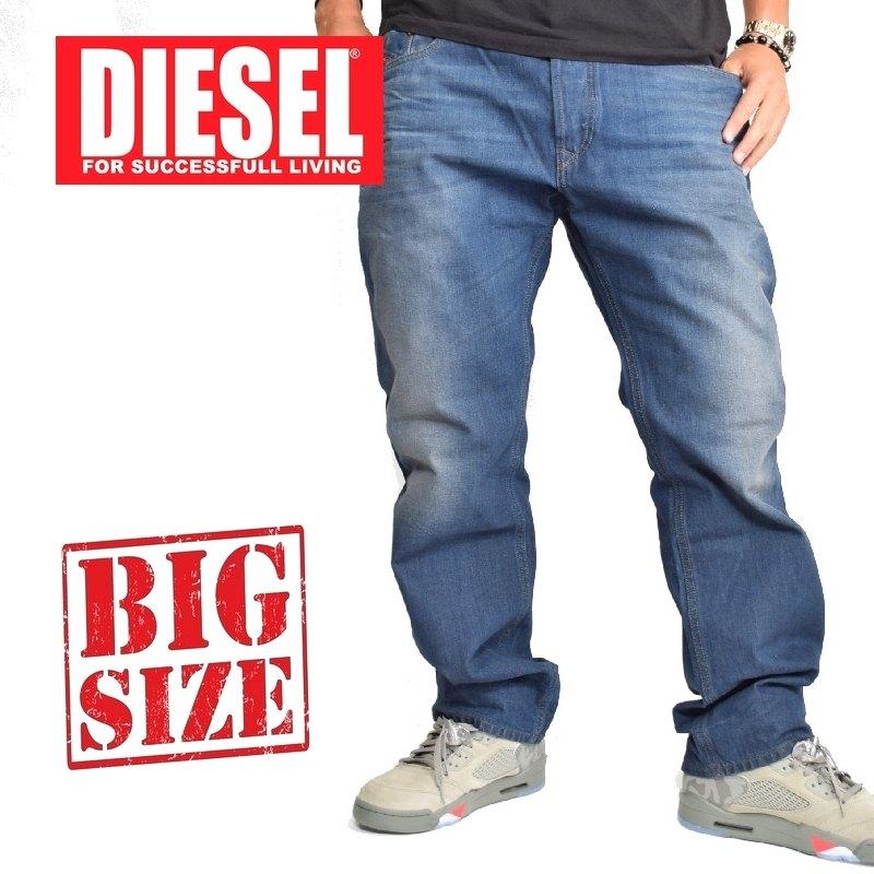 大きいサイズ メンズ ディーゼル Diesel デニムパンツ ジーンズ レギュラー ストレート WAYKEE 0849B 38 40インチ