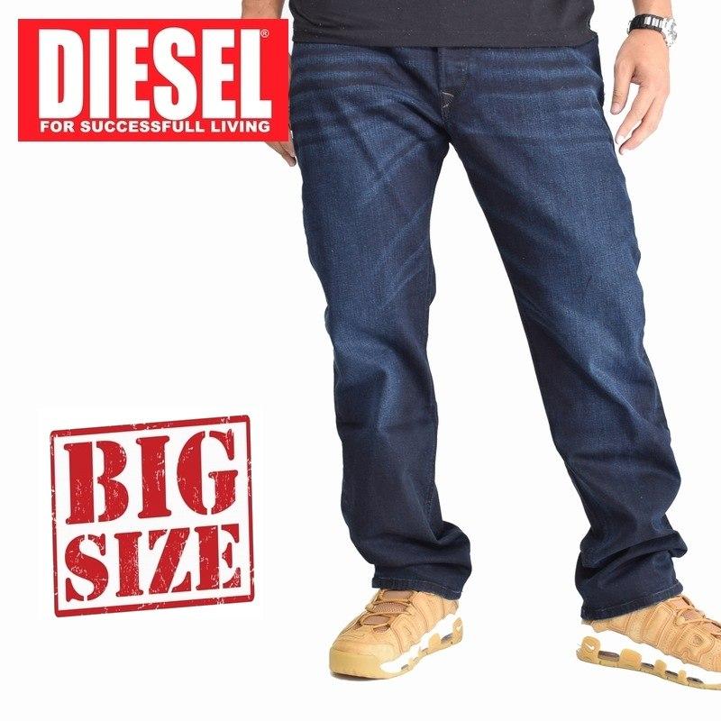 ディーゼル Diesel デニムパンツ ジーンズ レギュラー ストレート WAYKEE R46D8 STRETCH 38 40インチ 大きいサイズ メンズ あす楽