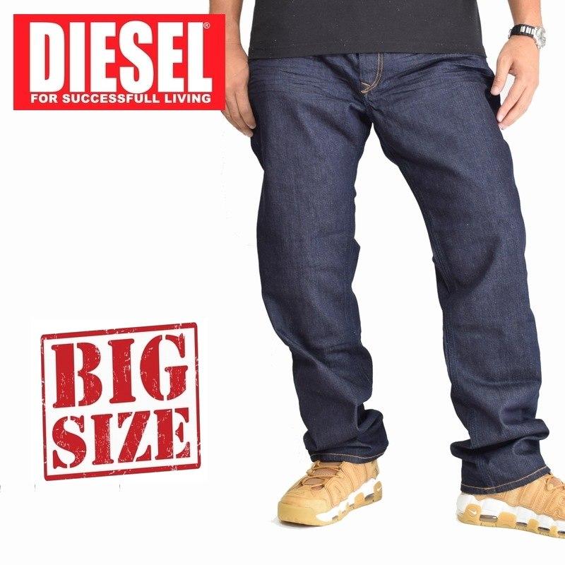 大きいサイズ メンズ ディーゼル Diesel デニムパンツ ジーンズ レギュラー ストレート WAYKEE WASH 0R8J4 STRETCH 38 40インチ