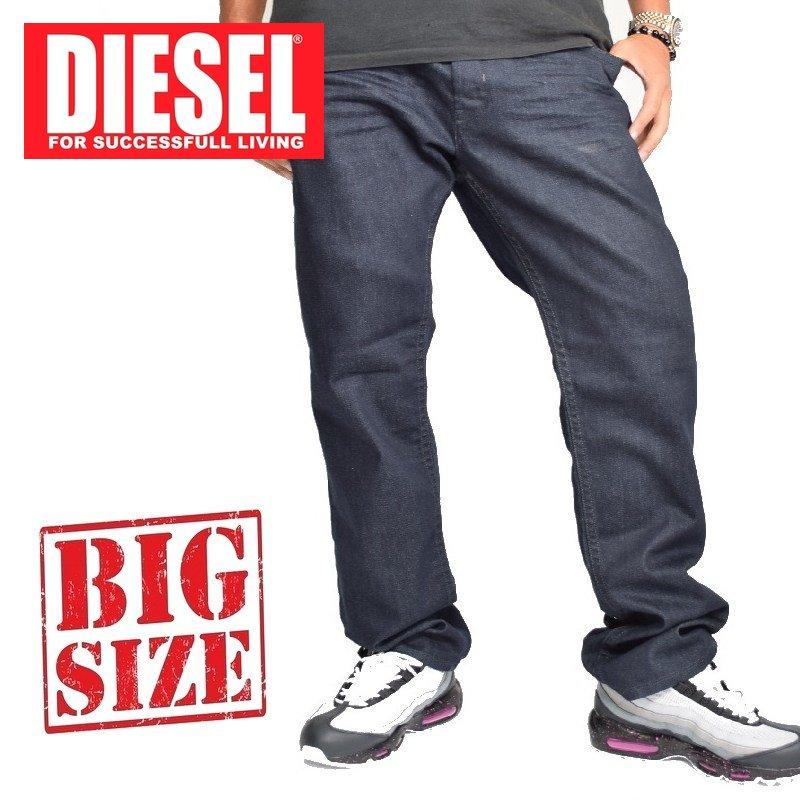 大きいサイズ メンズ ディーゼル Diesel デニムパンツ ジーンズ レギュラー スリム テーパード AKEE WASH 0853N STRETCH 40インチ