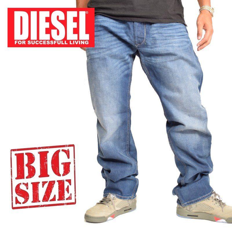 大きいサイズ メンズ ディーゼル Diesel デニムパンツ ジーンズ レギュラー ストレート LARKEE WASH RX380_STRETCH 38 40インチ