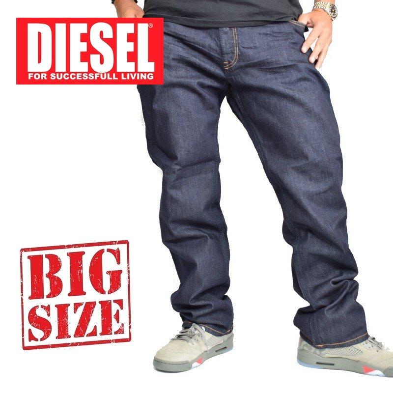 大きいサイズ メンズ ディーゼル Diesel デニムパンツ ジーンズ ストレート LARKEE WASH 0R8J4_STRETCH 38 40インチ