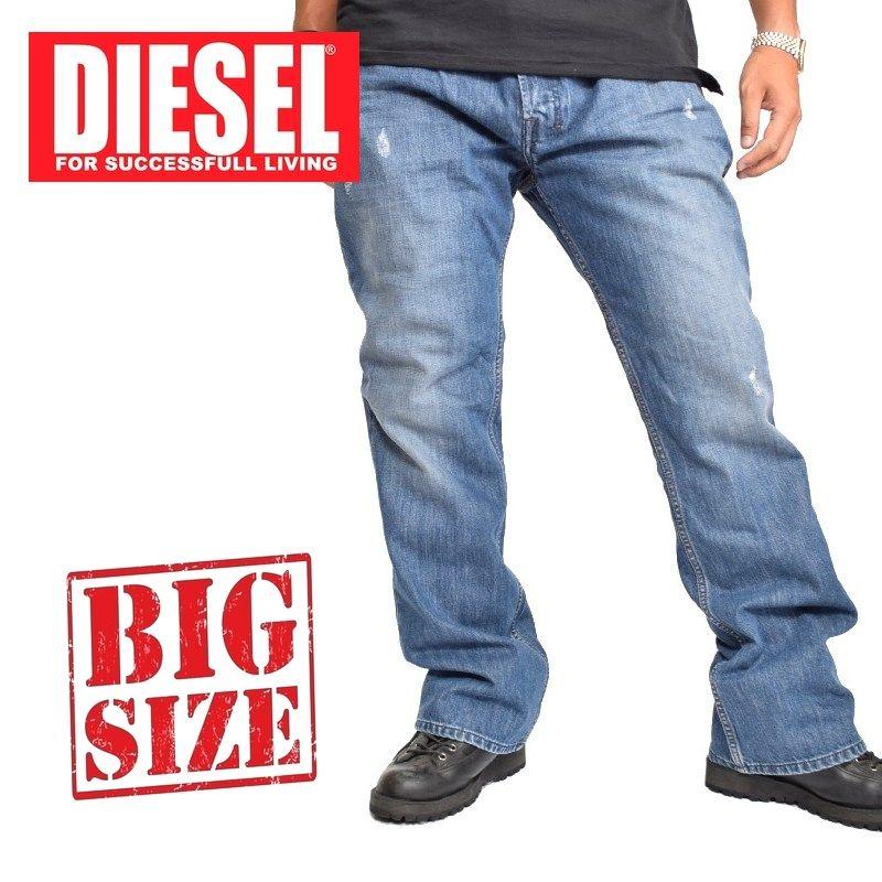 大きいサイズ メンズ ディーゼル Diesel デニムパンツ ジーンズ レギュラー ブーツカット ZATINY WASH 0844U 38 40インチ