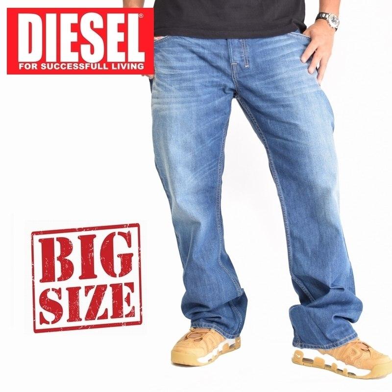 大きいサイズ メンズ ディーゼル Diesel デニムパンツ ジーンズ レギュラー ブーツカット ZATHAN WASH 008XR 38 40インチ