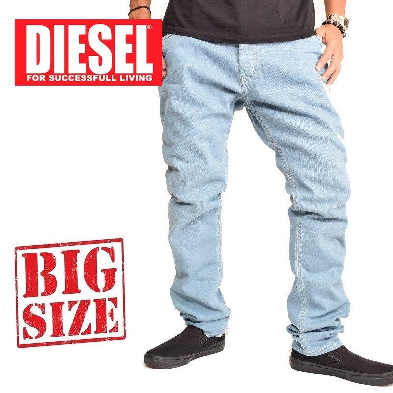 大きいサイズ メンズ ディーゼル Diesel デニムパンツ ジーンズ スリム TEPPHAR WASH 0850Y STRETCH 38インチ