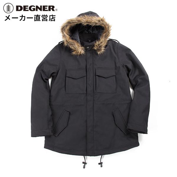 デグナー DEGNER モッズコート FR18WJ-10 レディース ブラック ソフトシェル プロテクター