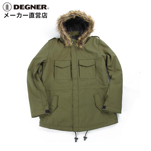 デグナー DEGNER モッズコート FR18WJ-10 レディース カーキ ソフトシェル プロテクター