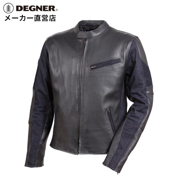デグナー DEGNER レザーデニムコンビ ジャケット 18WJ-11-NVメンズ ネイビー ライダース
